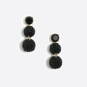 J. Crew Black Bead Earrings